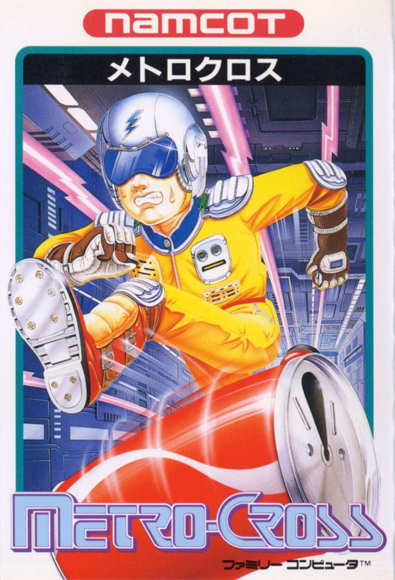 Japanese cover art for Metro Cross (NES) 80s retrogames