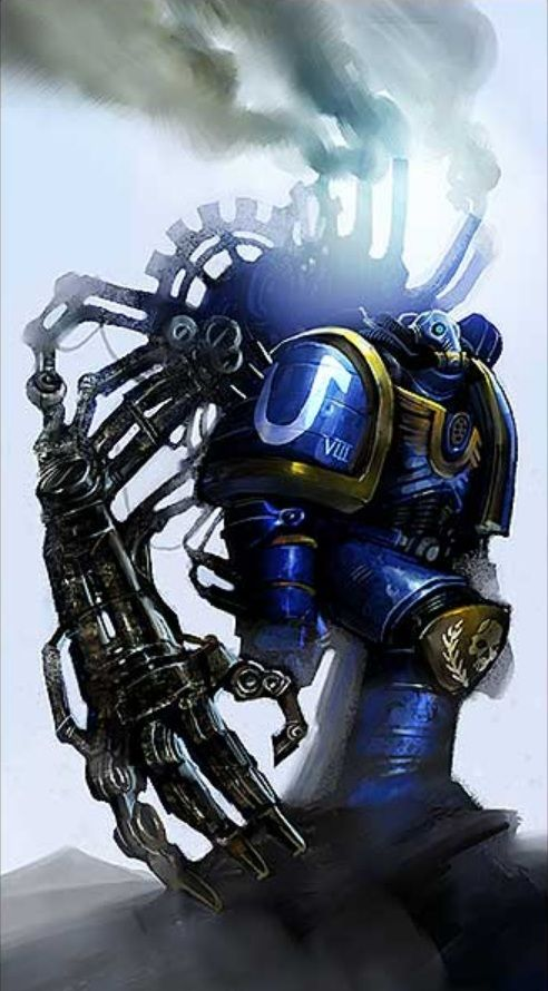 A Techmarine (known as a Frater Astrotechnicus in High Gothic) is a Space Marine technician and engineer as well as a full Astartes Battle-Brother of his Chapter. They are full initiated members of both the Cult Mechanicus and their Chapter. Prospective Techmarines are chosen from the ranks of the Space Marine Chapters for their affinity with technology. They are sent to Mars for 30 standard years of training, and taught the machine lore.
