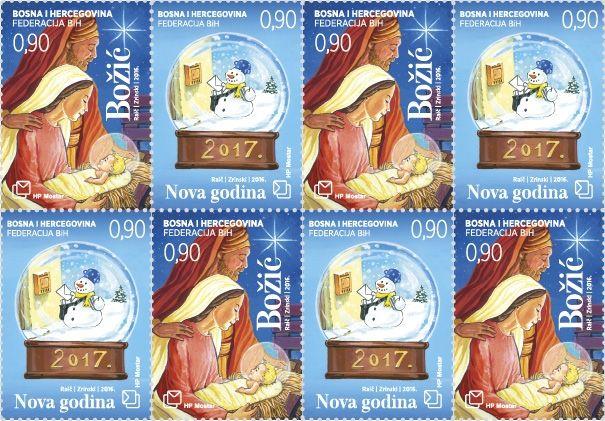 christmas stamps bosnia and herzegovina