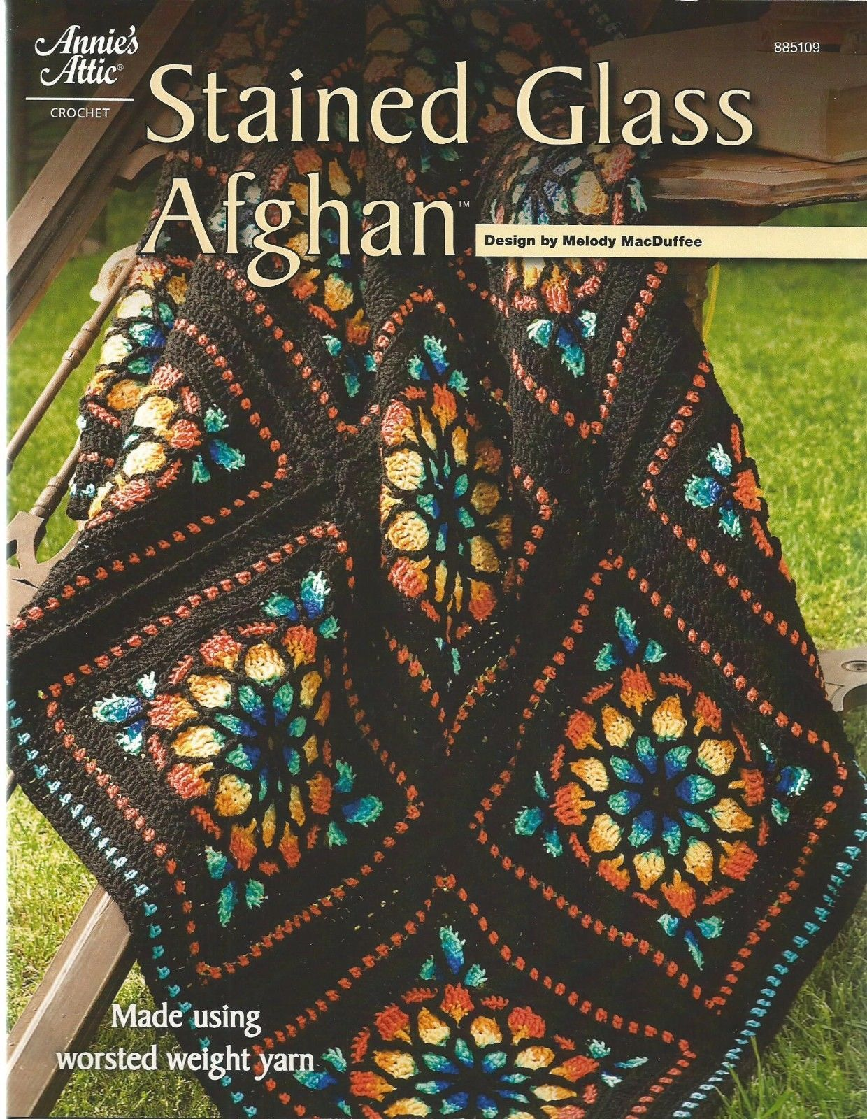 Stained Glass Flowers Afghan Crochet Pattern Instructions 1 25
