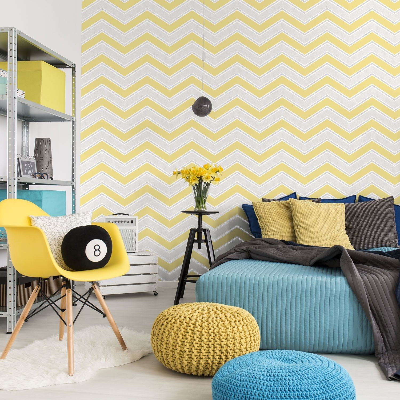 Coloroll Chevron Wallpaper | House Ideas | Pinterest | Chevron ...