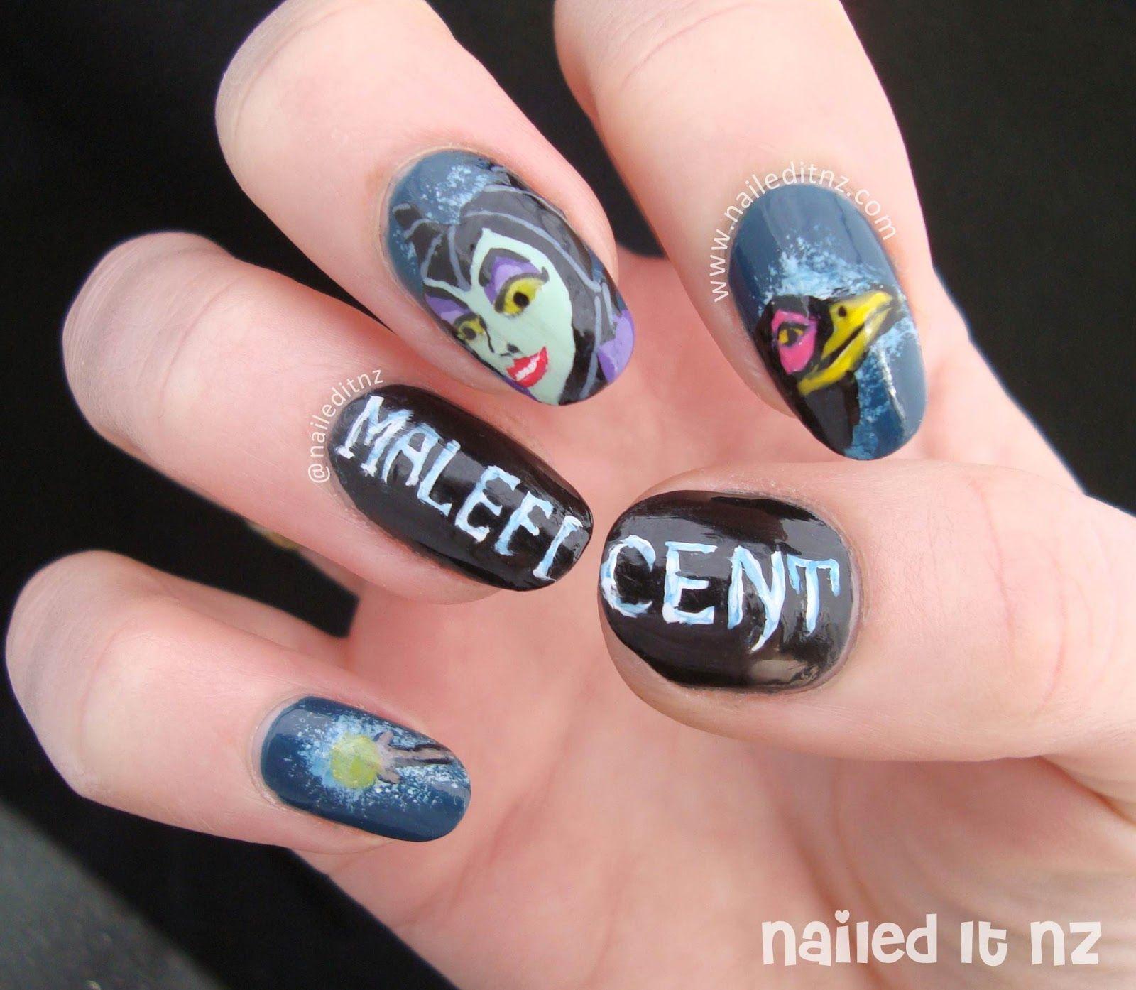 Nailed It Nz Disney Nail Art 7 Sleeping Beauty Maleficent