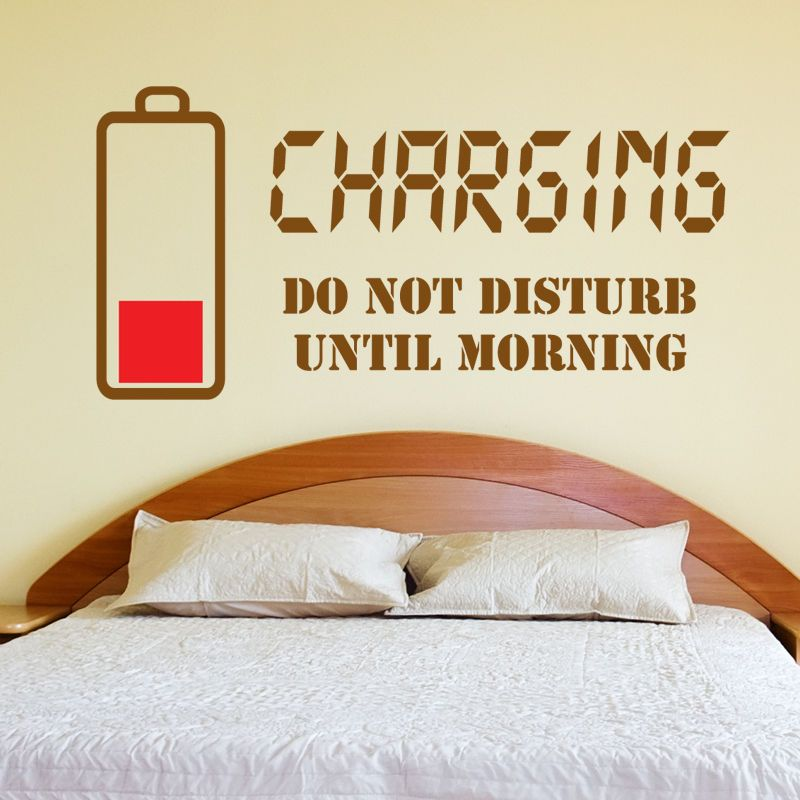 Charging Do Not Disturb Wall Sticker Wall Quote Art Decal Teenager Bedroom  W132 Part 35