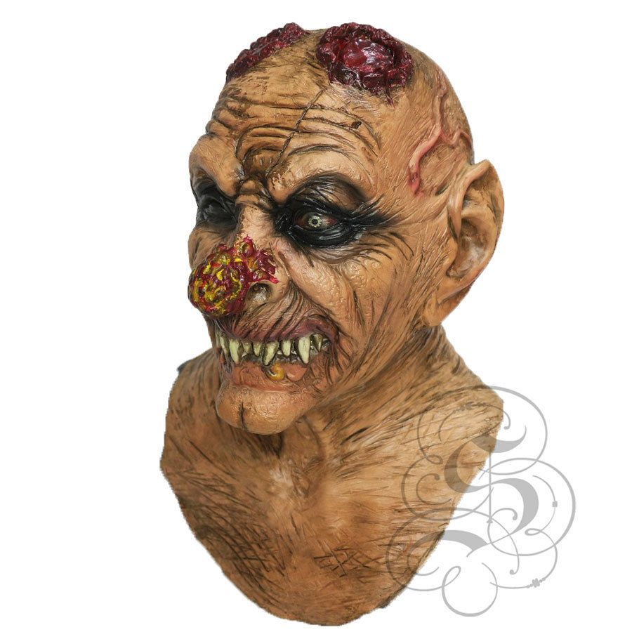 details about halloween latex evil goblin with chest full head horror scary party props masks - Scary Props