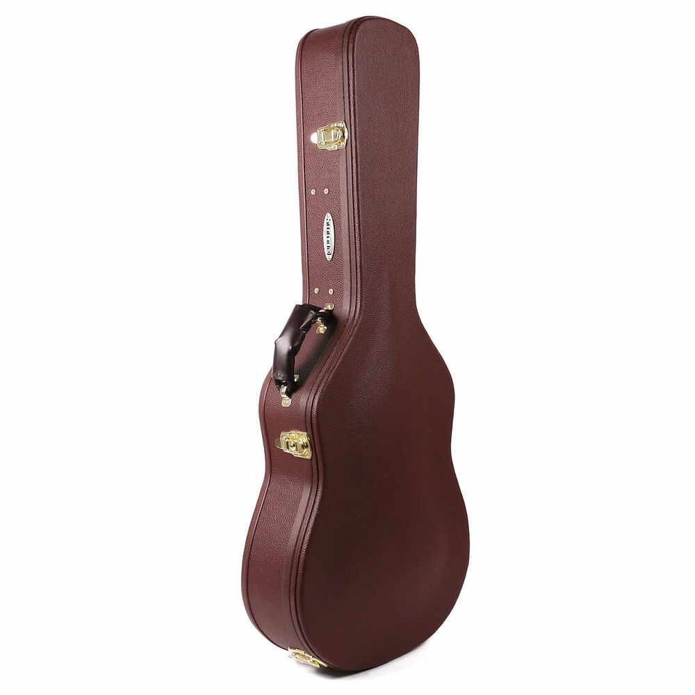 Attitude Dreadnought Guitar Hard Shell Wooden Case Brown Attitude Black Acoustic Guitar Acoustic Guitar Case Guitar