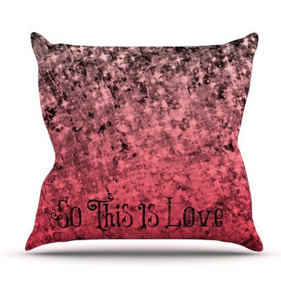 East Urban Home So This Is Love by Ebi Emporium Outdoor Throw Pillow
