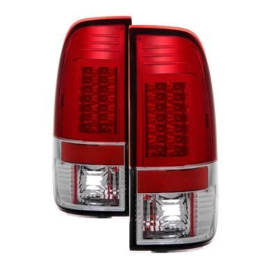 Spyder Auto Ford F150 Styleside 97 03 F250 350 450 550 Super Duty 99 07 Version 2 Led Tail Lights Red Clear 5029140 Led Tail Lights Tail Light Car Ford
