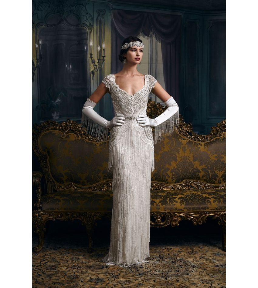 1920s style wedding dress from Eliza Jane Howell Fringe