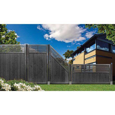 Sichtschutzzaun Element York Anthrazit 180 cm x 180 cm