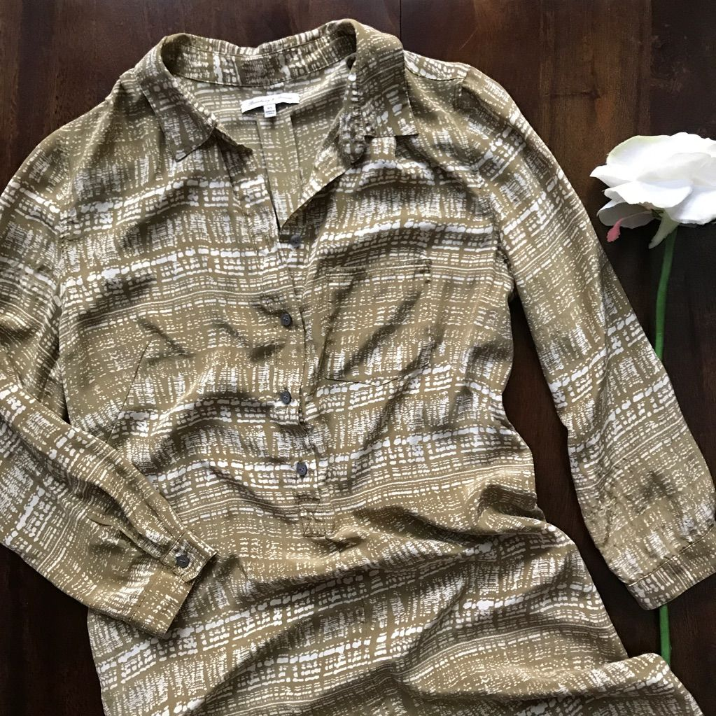 Madewell  Broadway And Brooms  Silk Shirt Dress