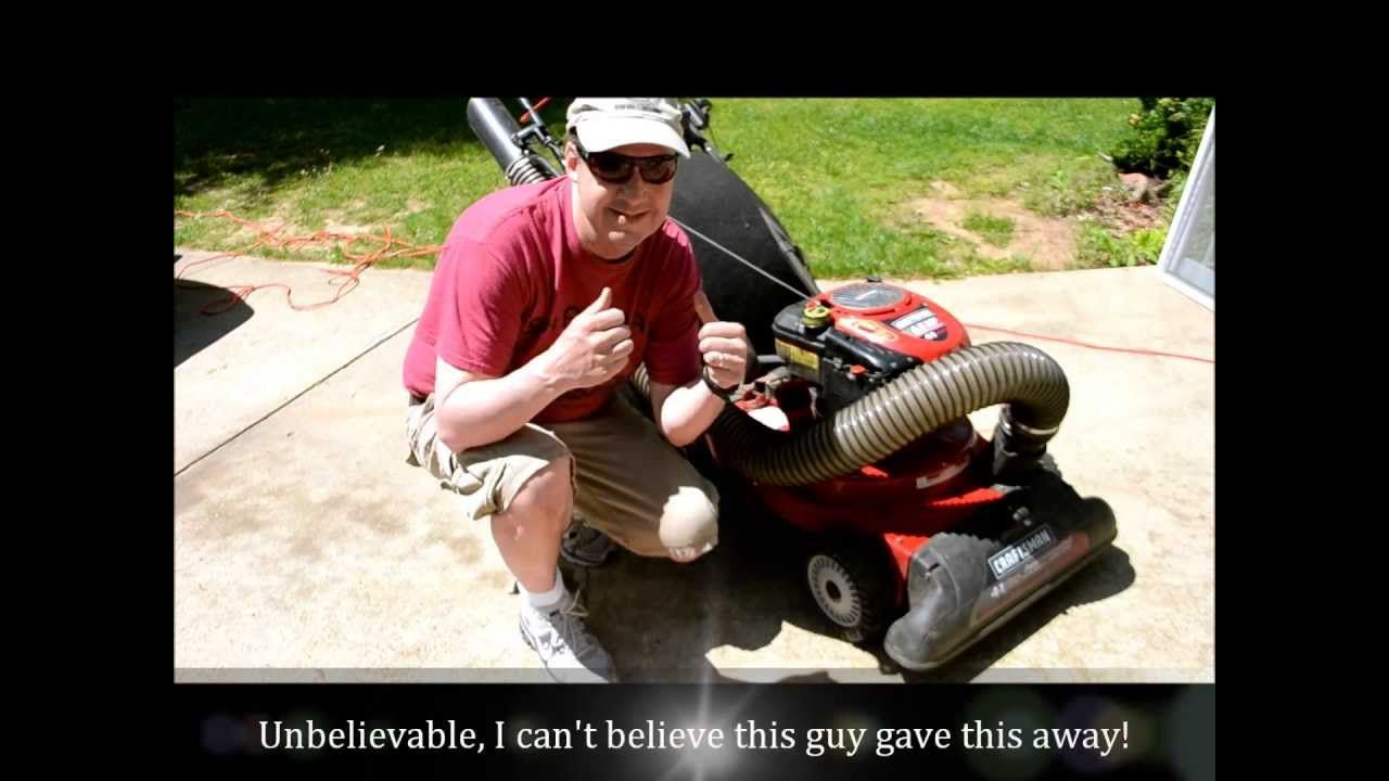 Totally Free Craftsman Four In 1 Lawn Vacuum Chipper Blower