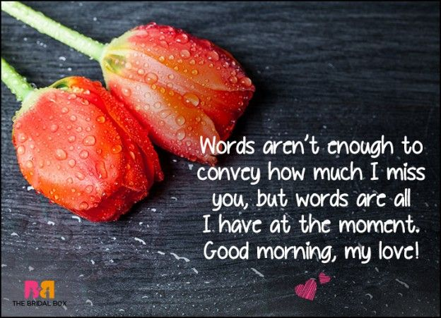 Good Morning Love Sms Words Are All I Have