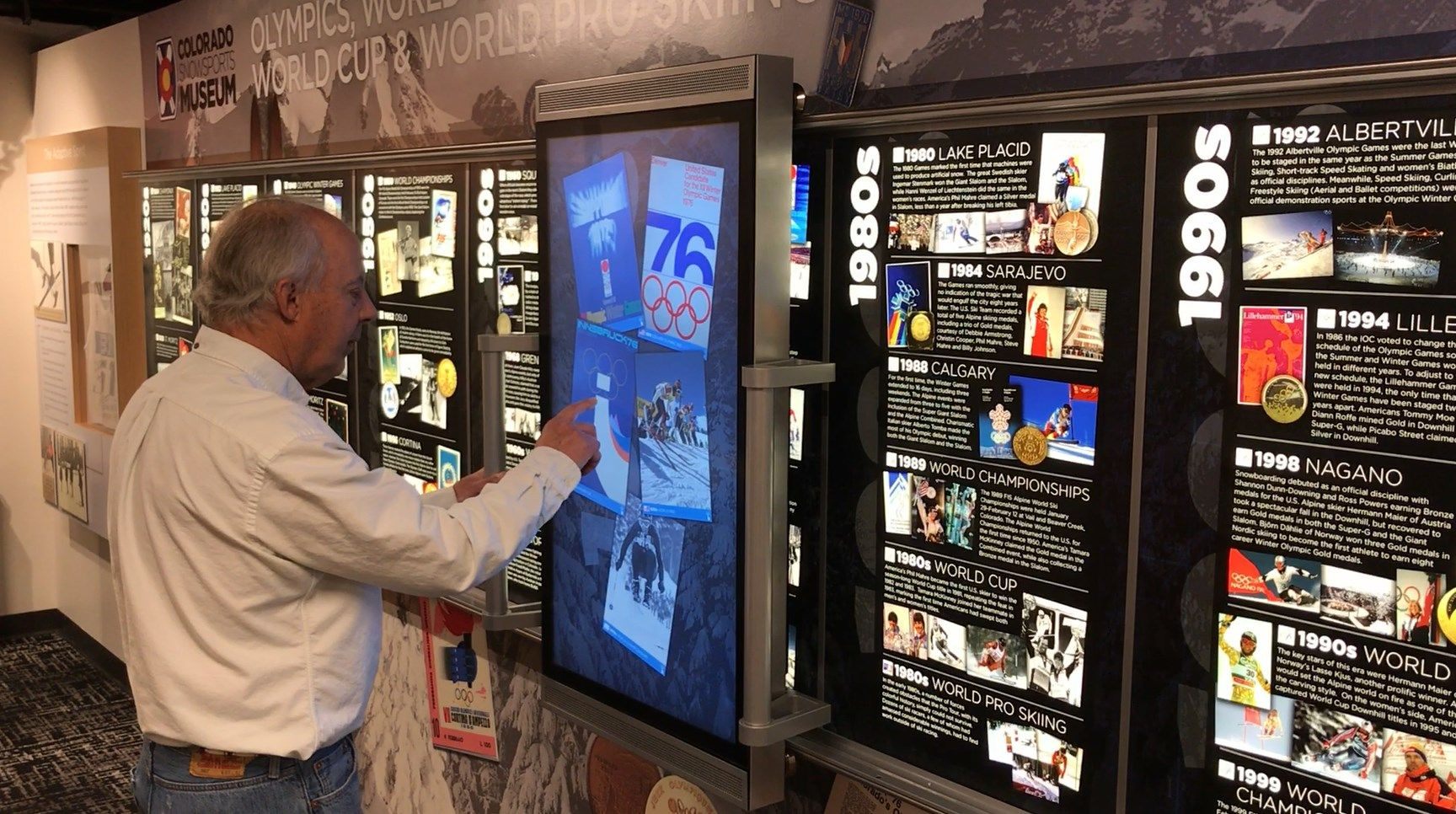 history of skiing iwall interactive snowsports museum vail co museum exhibition museum trade show flooring