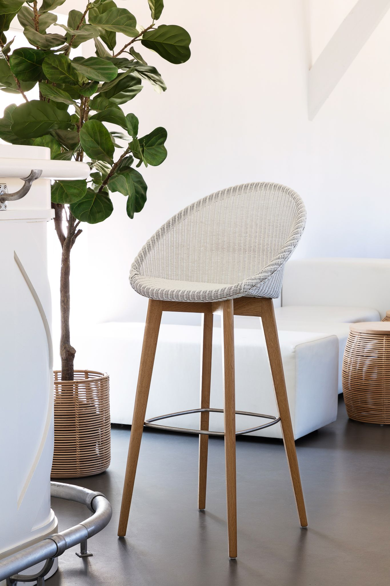 The Joe Bar Stool With Oak Base By Vincent Sheppard Is The Perfect