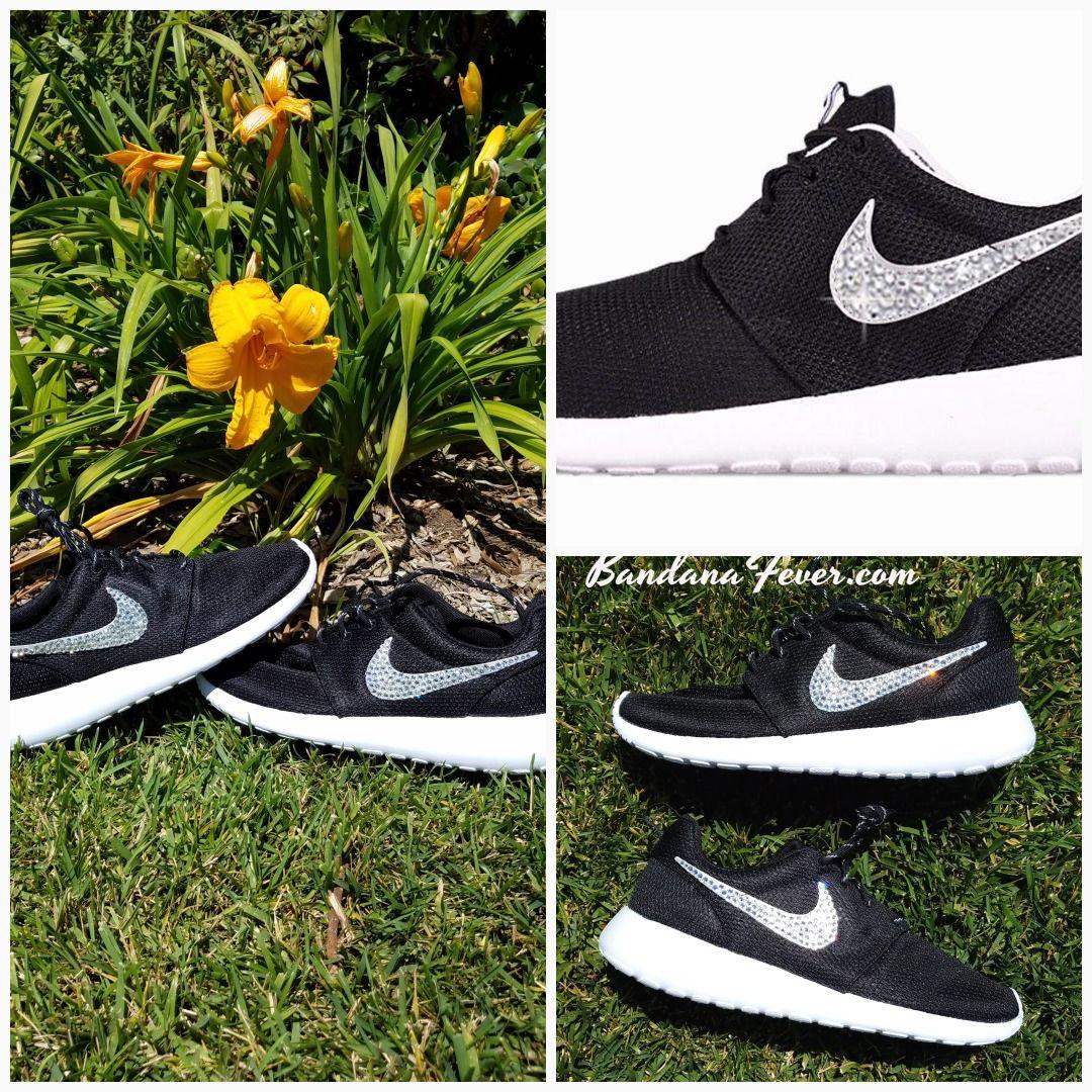 b4bafca8410a Bandana Fever Bling Rhinestone Custom Black Nike Roshe Shoes  bandana   shopping  style