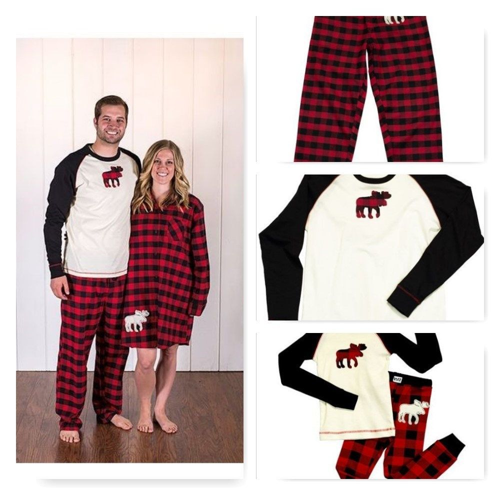 Family Christmas Pajamas Moose Plaid Christmas Family Pajamas by ChristmasPajamasEtc on Etsy