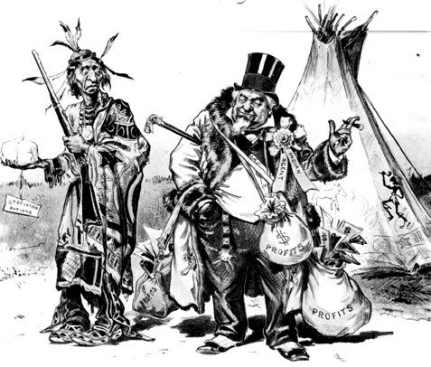120indianagentcropped Trail Of Tears Political Cartoon Trail Of
