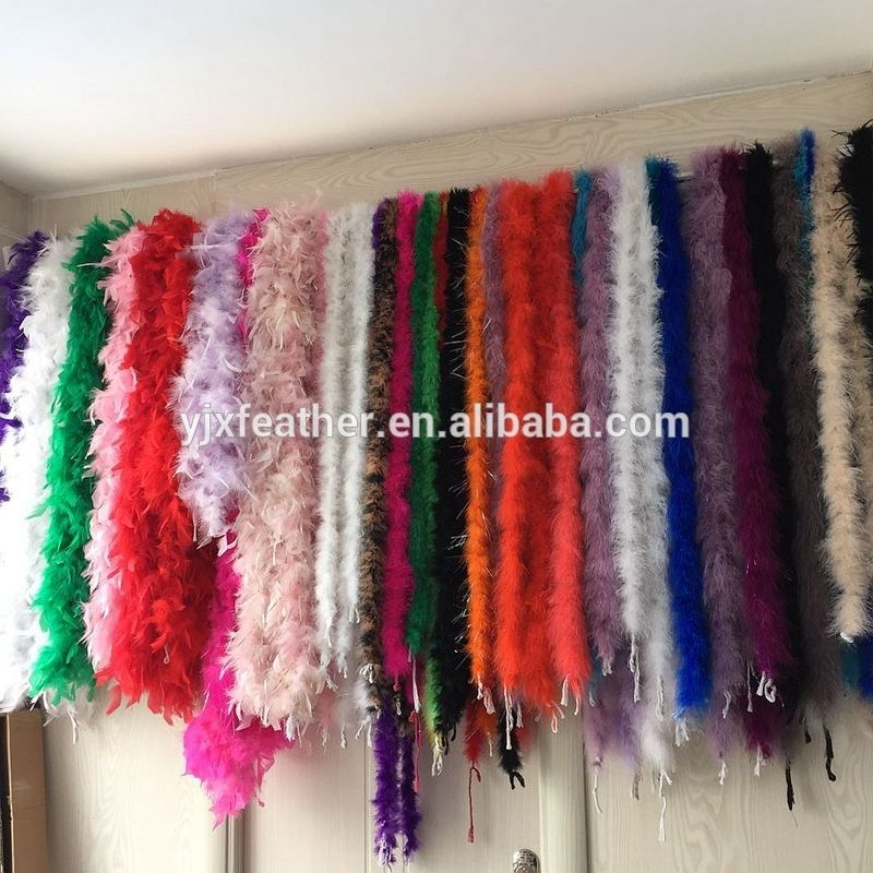 china wholesale colorful ostrich turkey feather boa for sale cheap