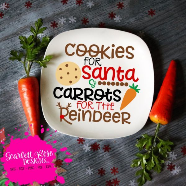 Photo of Cookies for Santa & Carrots for the Reindeer SVG cut file design