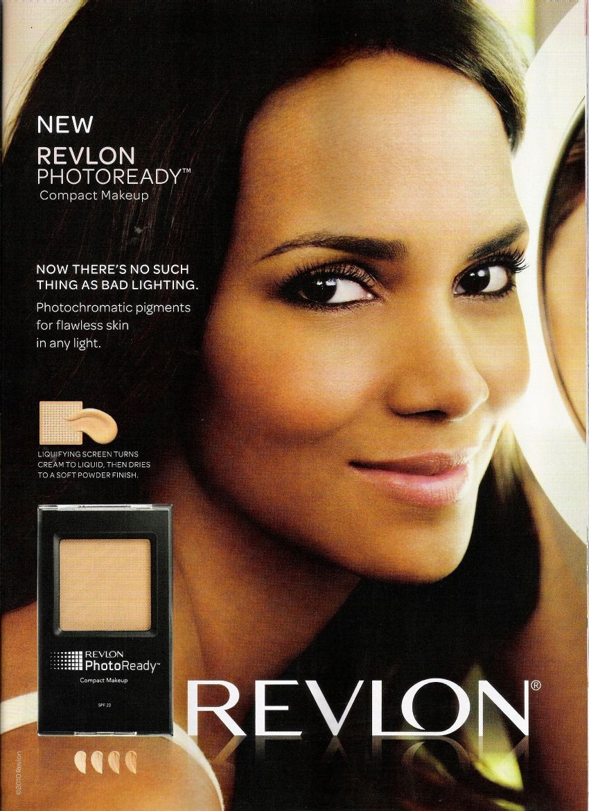 makeup ads | halle berry new revlon photoready compact makeup ad ...