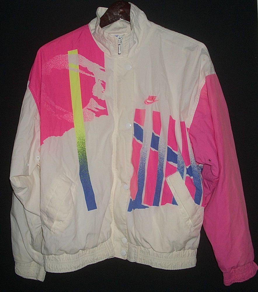 Vintage Nike Challenge Court Tennis Jacket Windbreaker 80's