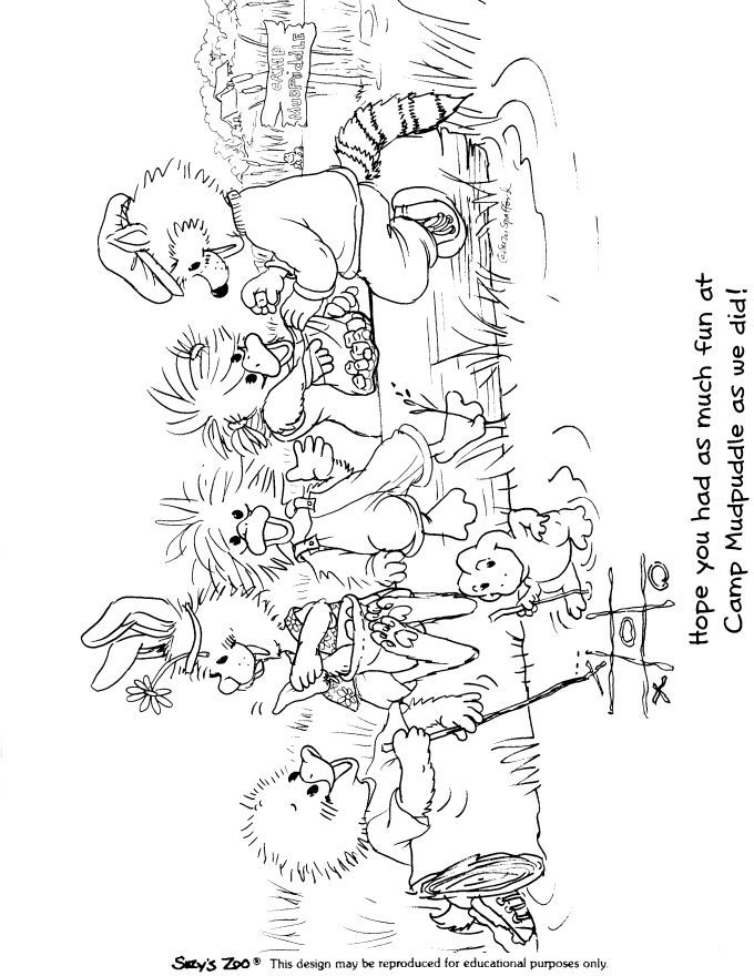 98 Suzy Zoo Coloring Pages Printable Pictures