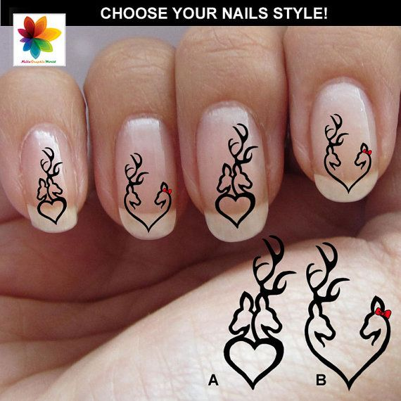 Valentine Day Love Deer Deer Head Deer Nail 100 Nail Art Decals