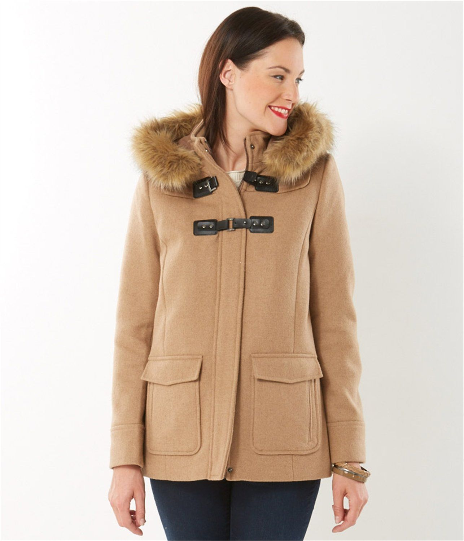719d84fa13c1 Manteau femme esprit duffle-coat - GROSSE PIECE Femmes Camaïeu