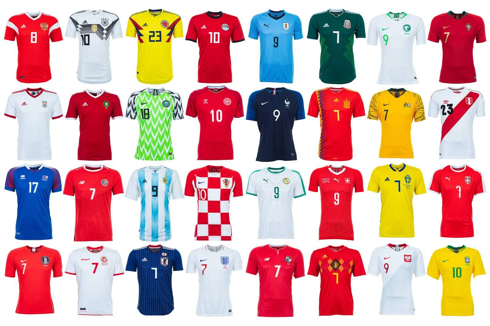 World Cup 2018 Kits Ranked From Worst To Best World Cup Jerseys World Cup 2018 Soccer Outfits