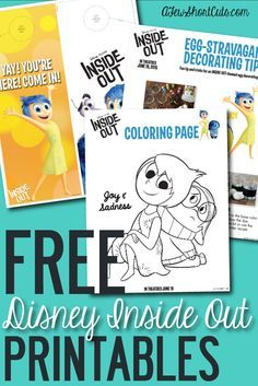 Free Disney Pixar Inside Out Printable Activity Sheets Inside Out