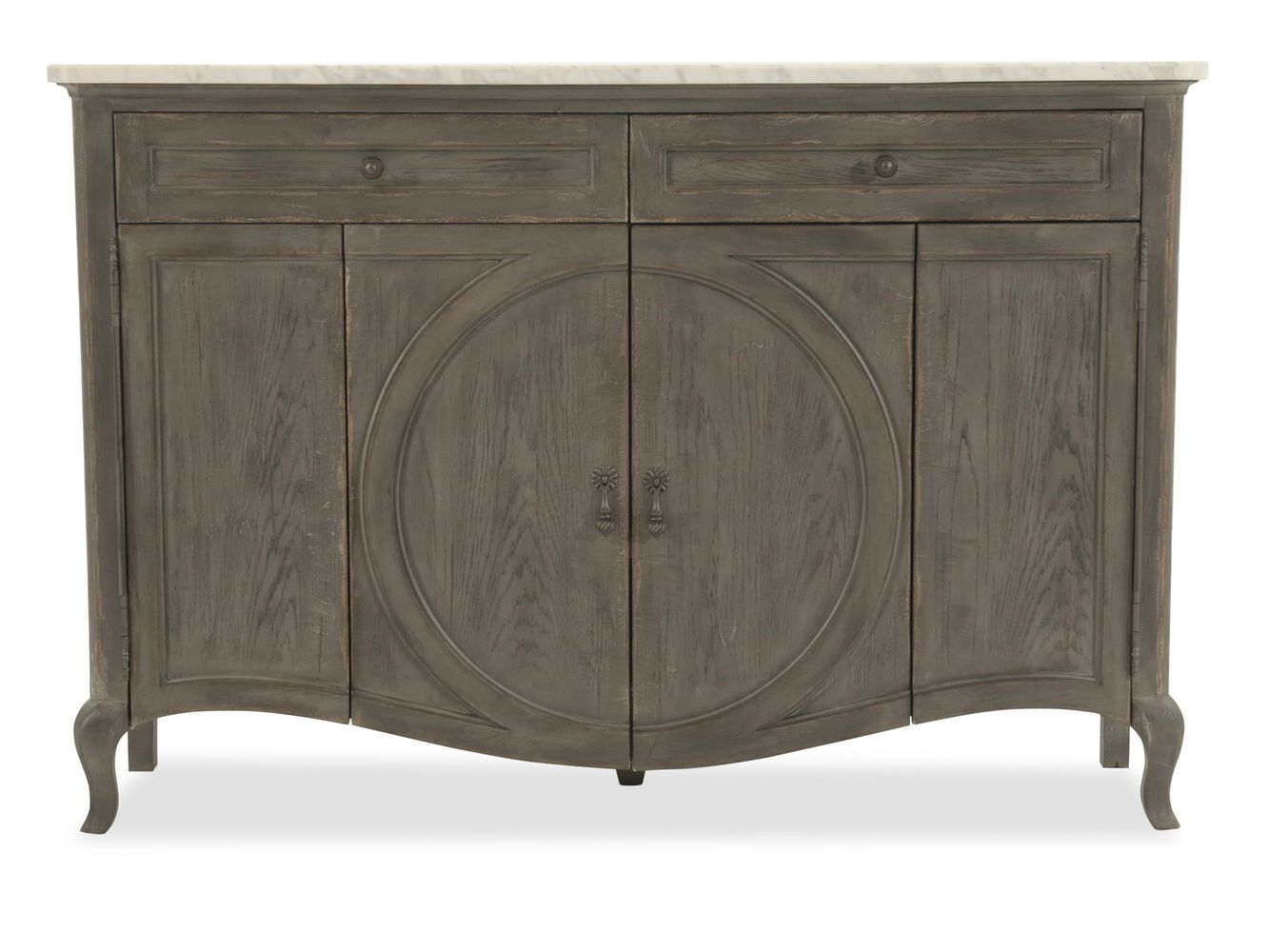 hooker arabella dark gray two drawer credenza mathis brothers