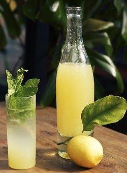 juice of two lemons + 1 big spoon of honey + water