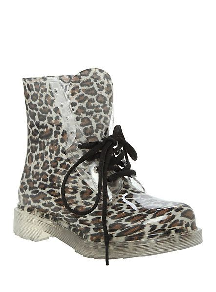 Leopard Jelly Boot | Hot Topic | Lookin' Snazzy. | Boots