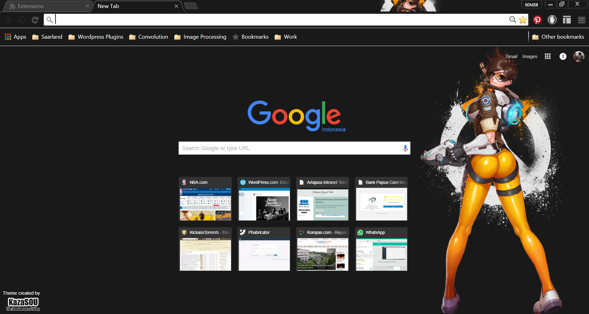 previously she is featured in a rainmeter skin now this overwatch