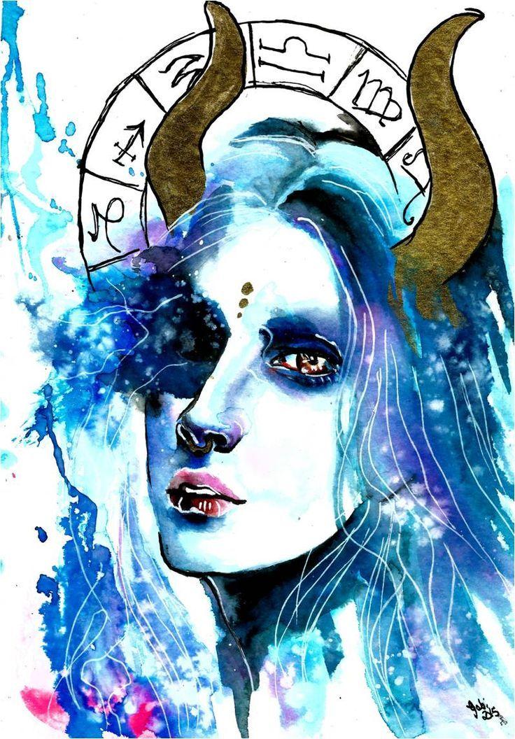 Zodiac Sign Taurus.Art by Gabi Xavier   Taurus   Zodiac signs ... 883fe7f820