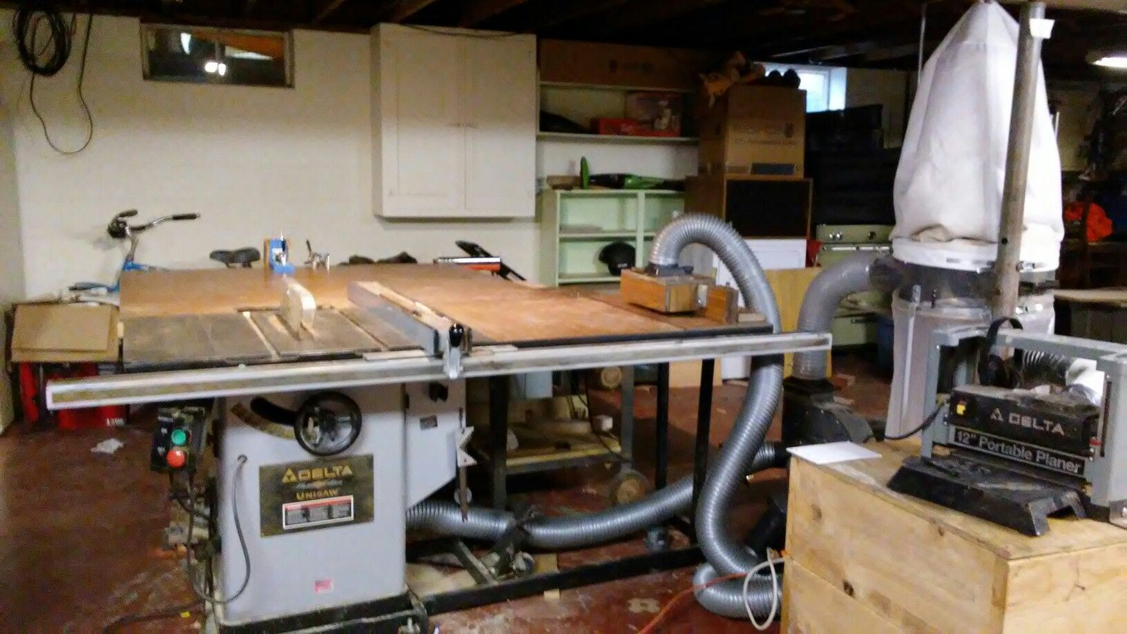 My new table saw planer and router table dust collection setup in my new table saw planer and router table dust collection setup in my basement keyboard keysfo Image collections