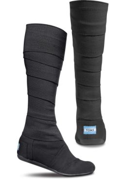 68854a79657 TOMS Shoes Black Vegan Wrap Boots for when I m a Ninja