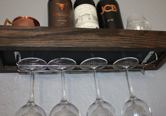 Wall Mounted Wine Glass Rack by NewWorldWorkshop on Etsy