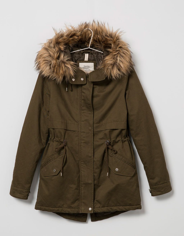 e4bc9efe02a6 BSK basic cotton parka - Coats   Jackets - Bershka Serbia ...