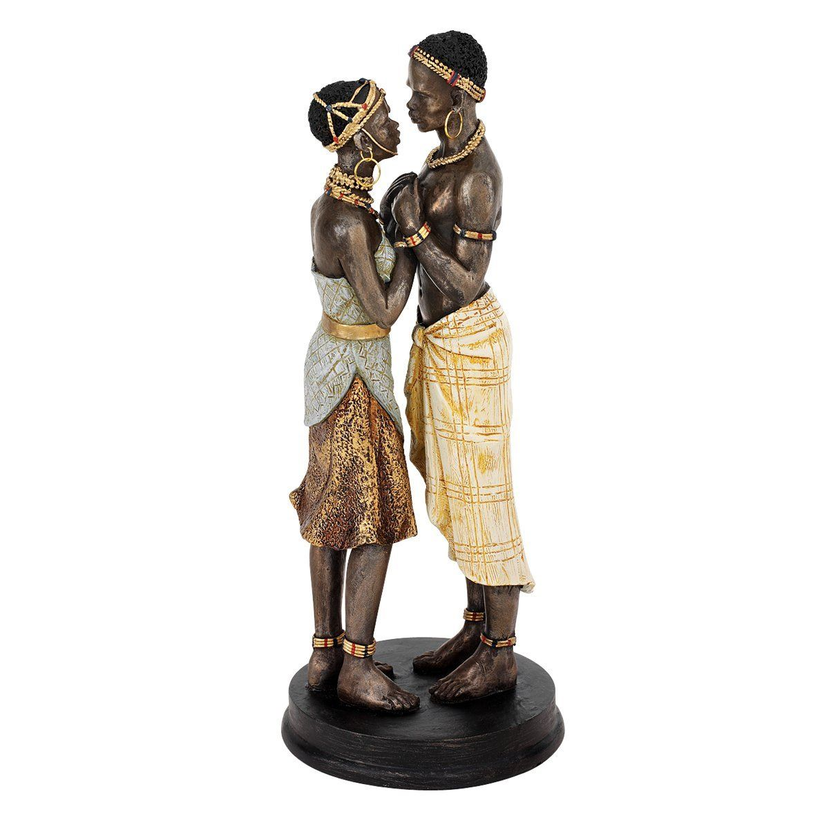 """Xoticbrands 10.5"""" African Art Passionate Lovers Statue"""