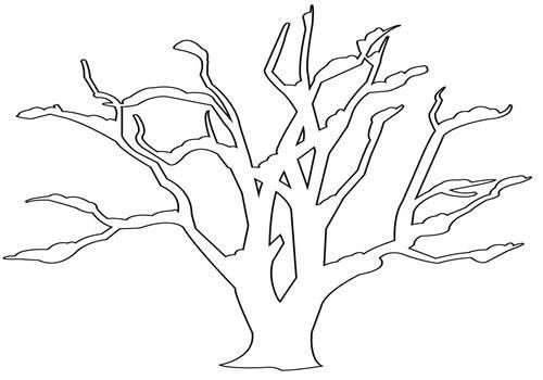 Mewarnai Gambar Pohon Tanpa Daun Halaman Mewarnai Warna Gambar