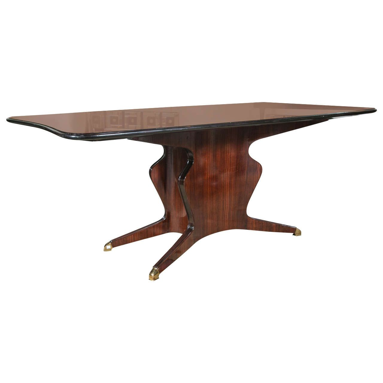 Solid Rosewood Glass Top Dining Or Conference Table By Borsani Tavoli In Legno Tavoli Legno [ 1280 x 1280 Pixel ]
