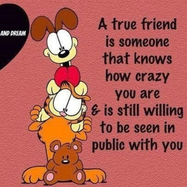 Garfield And Odie Friendship Quotes Funny Friends Quotes Friends Quotes Funny