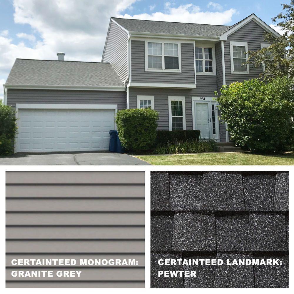 Roof Certainteed Landmark Pewter Siding Certainteed Monogram Granite Grey Roof Shingle Colors House Paint Exterior Certainteed Vinyl Siding