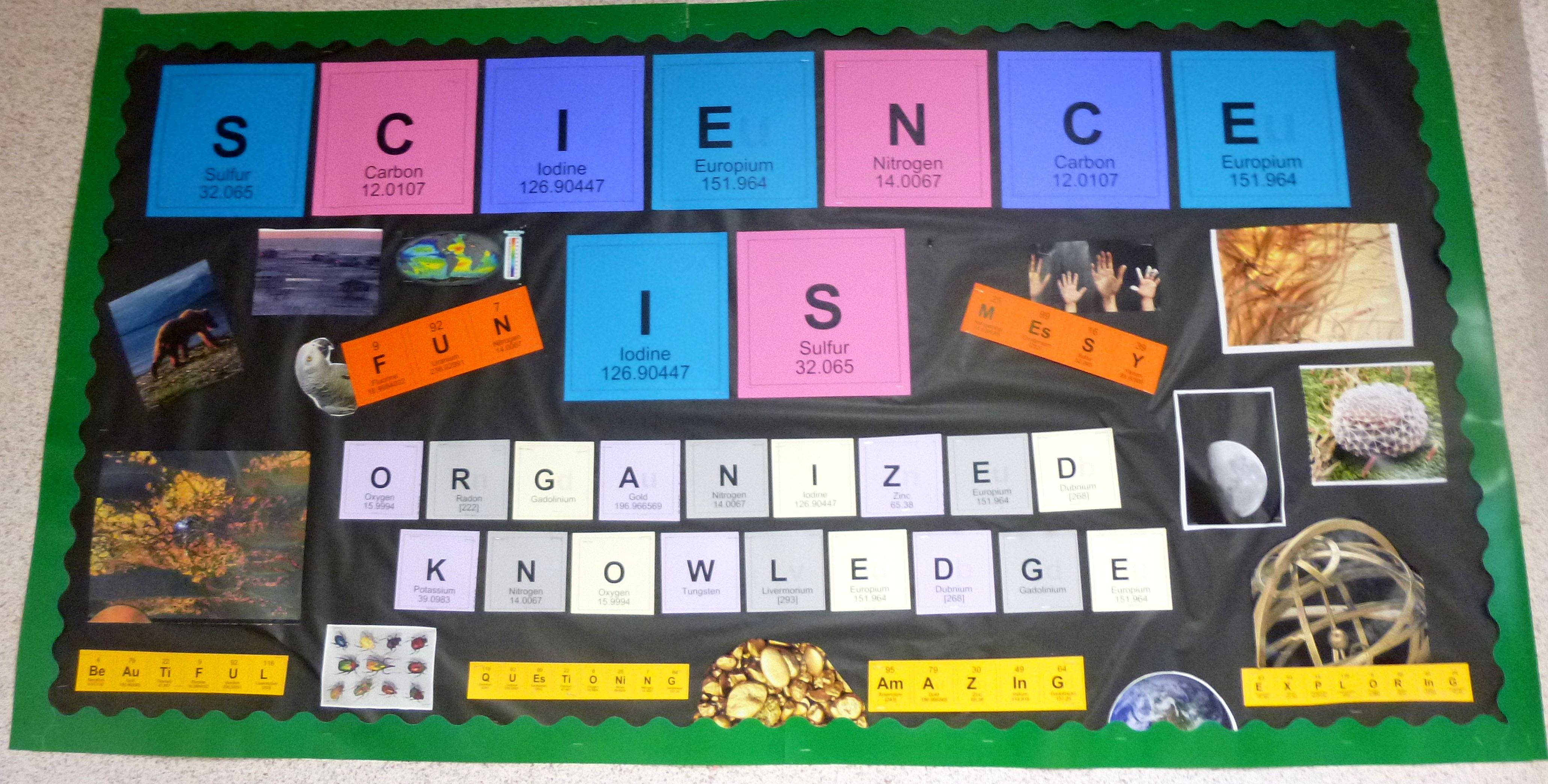 Science Is Organized Knowledge Inspirational Bulletin Board Made