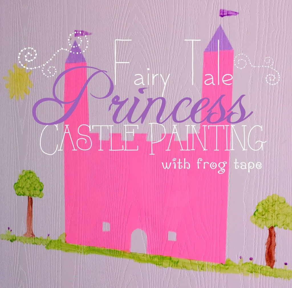 fairy princess castle with frogtape textured surface