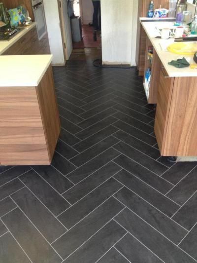 Slate Herringbone Floor Google Search Flooring Tile Floors House