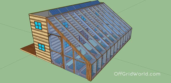 640sqft Solar Powered Shipping Container Cabin with Greenhouse For $25k - Off Grid World
