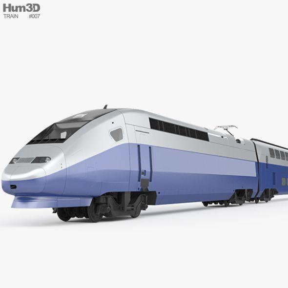 SNCF TGV 2N2 Euroduplex. Editable 3D model of a train. #3D #3DModel #3DDesign #train #VR #AR #2n2 #alstom #city #civil #commuter #decker #double #eco #electric #euroduplex #france #french #high #high-speed #intercity #multiple #passenger #public #rail #railway #sncf #speed #tgv #transport #transportation #unit