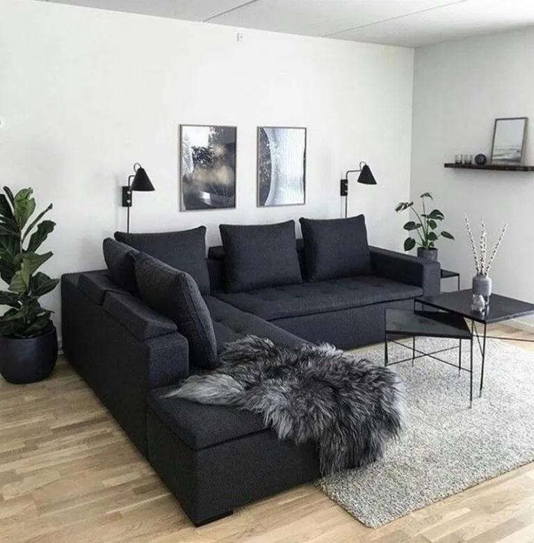 46 Impressive Apartment Small Living Room Ideas Monochrome Living Room Couches Living Room Living Room Decor Apartment